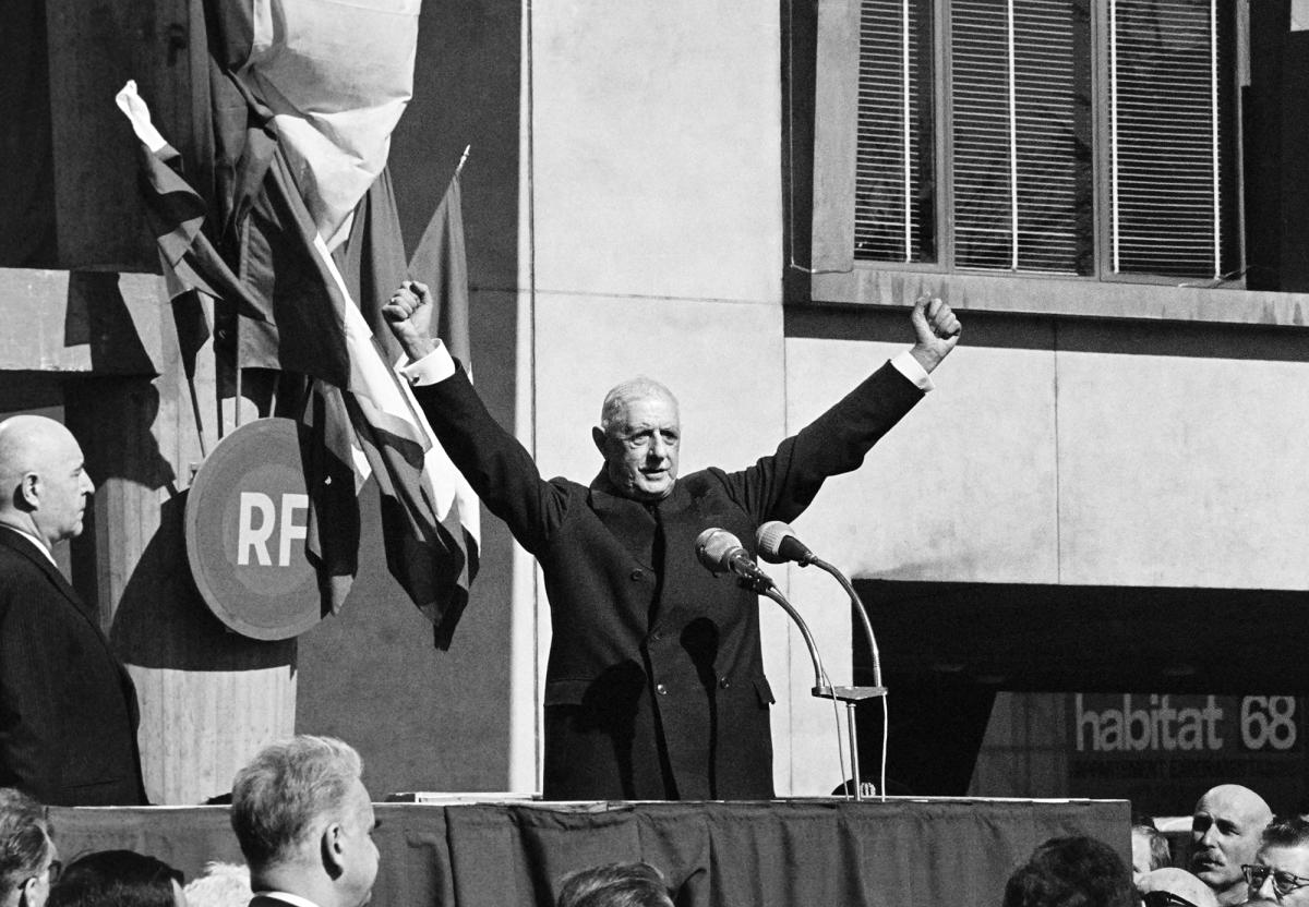 Красный май 1968, де Голль